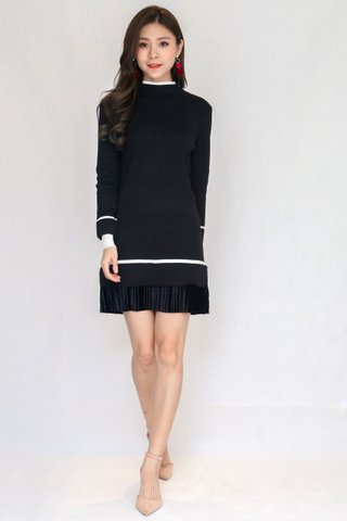 Winterland Knit Dress In Black