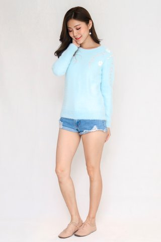 Orchid Pullover In Light Blue