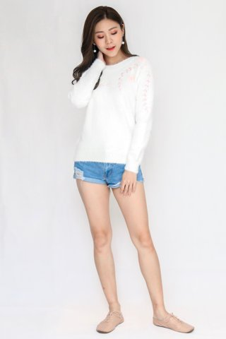 Orchid Pullover In White