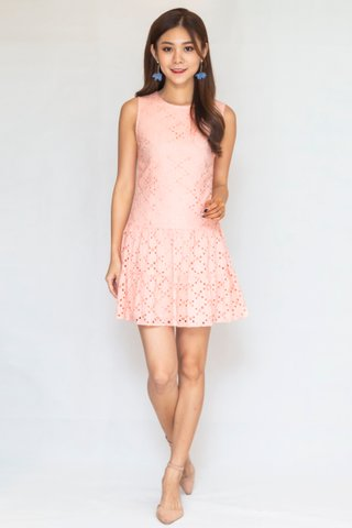 Newvale Eyelet Dress In Pink