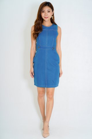 Jacobs Denin Dress In Navy