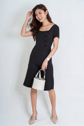Felicity Sleeve Jumpsuit In Black