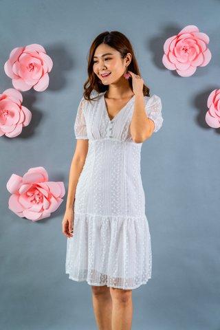 Fannie Lace Dress In White
