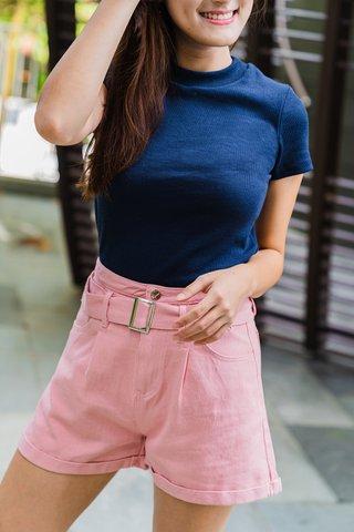 Adele Denim Shorts In Pink