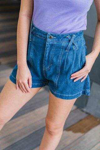 Crossy Dark Denim Shorts