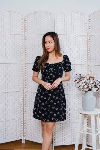 Alina Floral Dress In Black