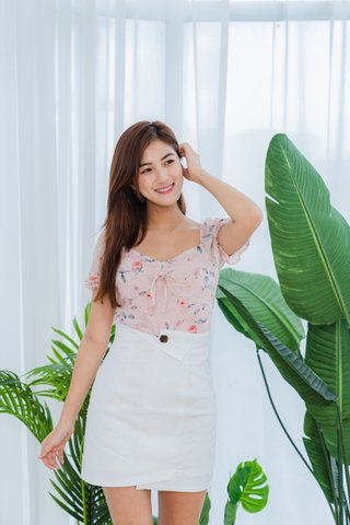 Shirley Floral Top In Pink