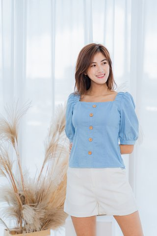 Sheila Light Denim Sleeves Top