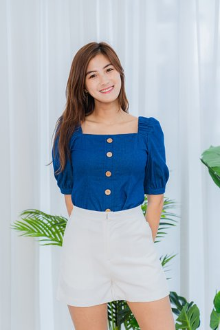 Sheila Dark Denim Sleeves Top