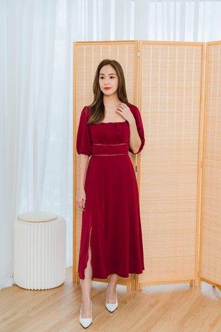 Gloria Maxi Dress In Wine Red