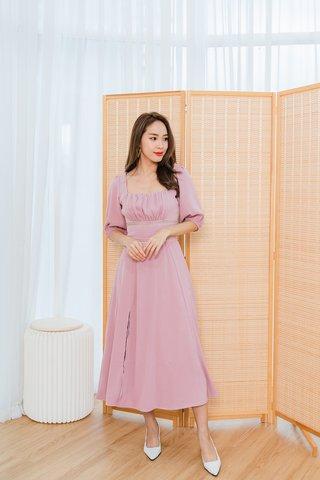 Gloria Maxi Dress In Dusty Pink