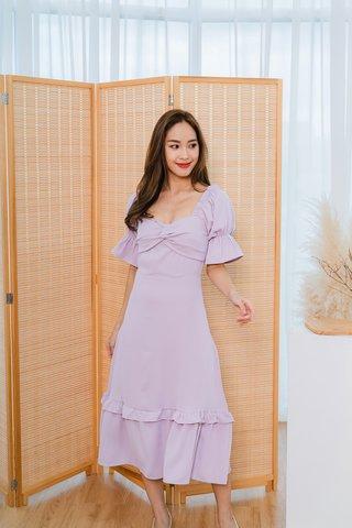 Sarah Twist Knot Maxi Dress In Lilac