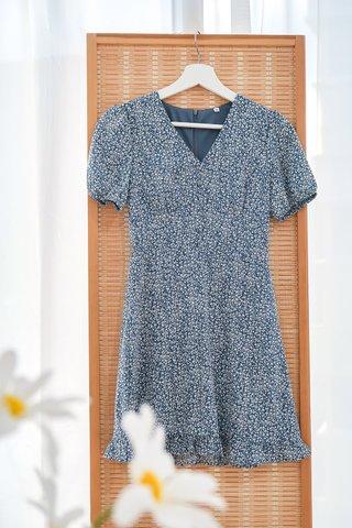 Helen Sleeve Blue Floral Dress
