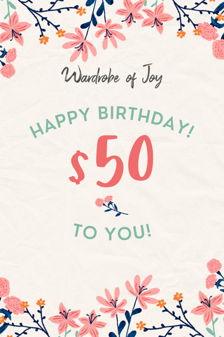 $50 WOJ E-Gift Card (Happy Birthday)
