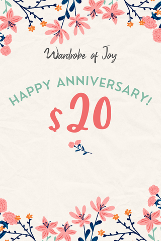 $20 WOJ E-Gift Card (Happy Anniversary)