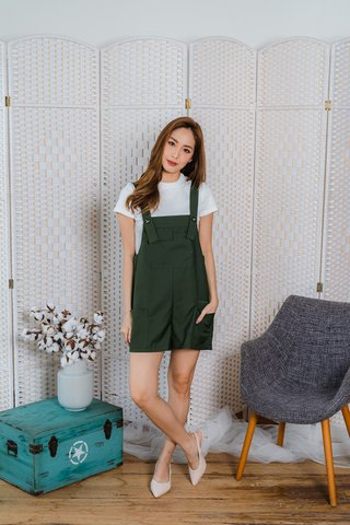 Eugenia Romper In Khaki