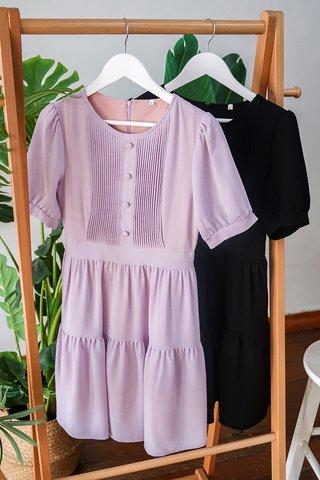Yvette Sleeve Tier Dress In Lilac