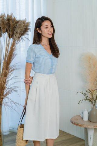 Hannah Midi Skirt In White