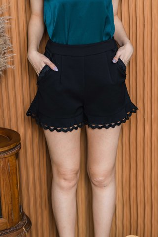 Paige Crotchet Trimming Shorts In Black