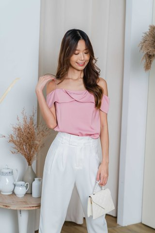 Lizzie Tapered Pants In White